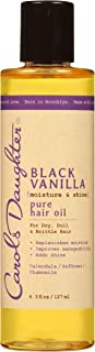 Carol's Daughter Black Vanilla Moisture & Shine Pure Hair Oil For Dry Hair and Dull Hair, with Calendula, Chamomile and Safflower, Silicone Free Hair Oil, Paraben Free, 4.3 fl oz (Packaging May Vary)