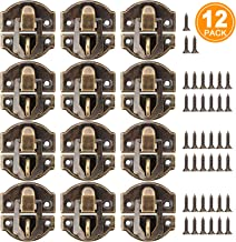 27MM Antique Brass Latch hasps 12-Pack with Bronze Screws for Wooden Jewelry Box Cabinet Decorative