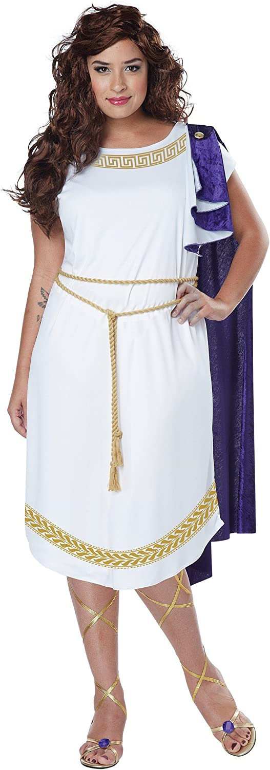 California Costumes Women's Plus Toga Size Grecian Selling and selling Dress New York Mall