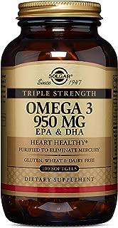 Solgar - Triple Strength Omega 3 EPA & DHA 950 Mg, 100 Softgels
