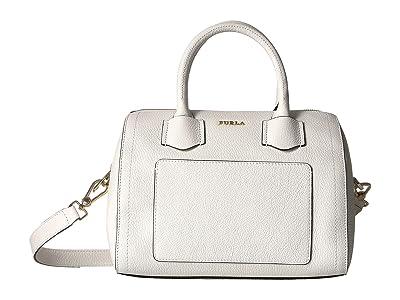 Furla Alba Small Satchel (Chalk) Handbags