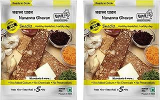 Dhanashree Gruha Udyog (Mumbai) Ready to Cook Navanna Ghavan, Multigrain Dosa Mix, Instant Indian Breakfast, Maharashtrian Recipe, (Pack of 2) - 250 grams each