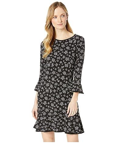 MICHAEL Michael Kors Wildflower Bouquet Flounce Dress (Black/White) Women