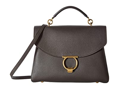 Salvatore Ferragamo Margot Shoulder Bag (Flannel) Handbags