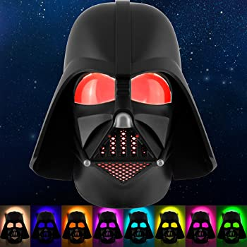 Star Wars Darth Vader LED Night Light, Color Changing, Collector's Edition, Dusk-to-Dawn Sensor, Plug-in, Disney, Galaxy, Ideal for Bedroom, Bathroom, Nursery, Hallway, 43428