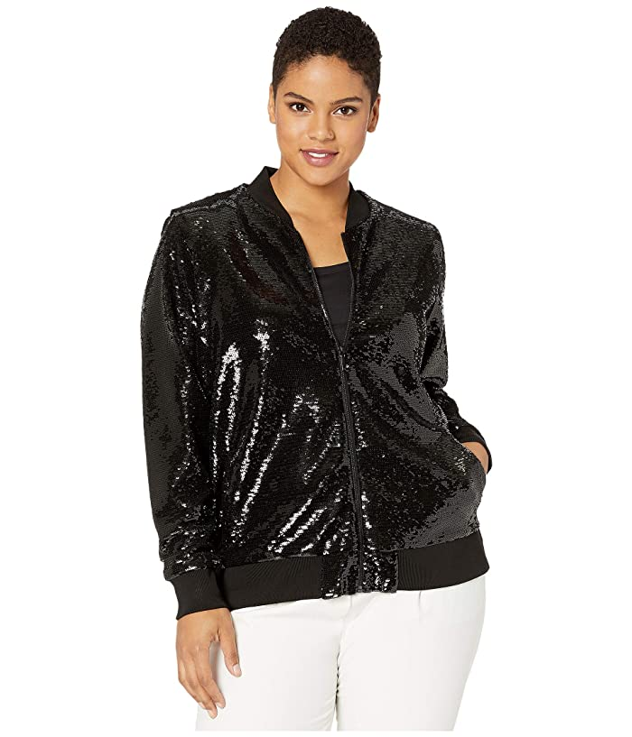Plus Size Sequined Bomber Jacket by Lauren Ralph Lauren