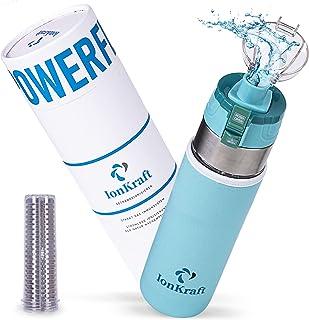 Ioniseur de boisson PowerFlasche IonKraft® - Nouveauté mondiale grâce à l'ionisation sans courant - Gourde avec ioniseur ...