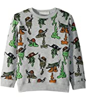 Stella McCartney Kids - Biz Snail Printed Fleece Sweater (Toddler/Little Kids/Big Kids)