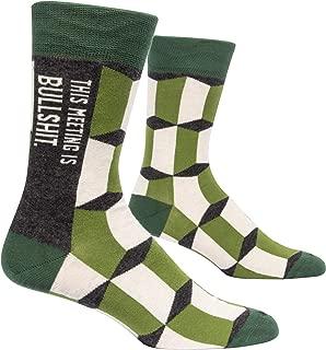 Blue Q Socks, Men's Crew, This Meeting is Bulls--t Size 7-12