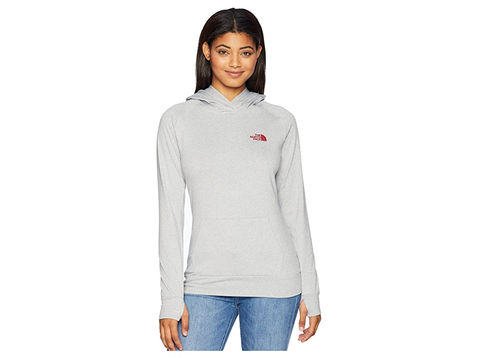 The North Face Fave Lite LFC Pullover (TNF Light Grey Heather/Rumba Red) Women
