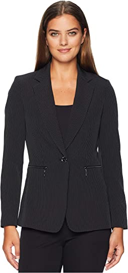 Pinstripe Bi-Stretch Jacket
