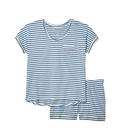 PACT Organic Cotton Sleep Set (Cadet Stripe) Women