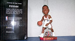 2003 LEBRON JAMES ROOKIE WHITE JERSEY DRIBBLING BOBBLEHEAD CLEVELAND CAVALIERS