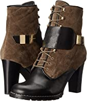 See by Chloe - Suede + Flat Leather Lace Up Bootie