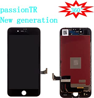 passionTR for Black iPhone 7 Plus 5.5 Inch LCD Screen Replacement 360 Degrees All Angles Under Sunglasses 2nd Generation Digitizer Frame Assembly Full Set Touch Screen Display