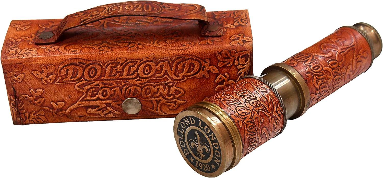 Brass 16 SALENEW very popular! inch Telescope Dollond Handheld Lether case 1920 Overseas parallel import regular item London