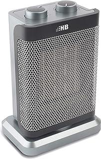 HB CFH1503M Calentador derámico, 1500 W, Aluminio, 2 Velocidades, Plateado