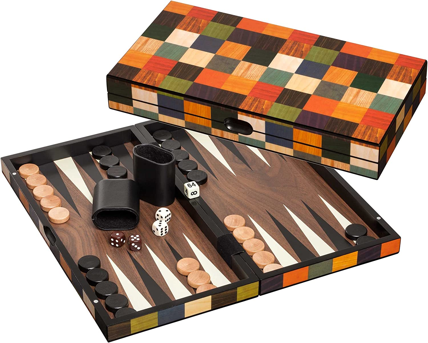 Philos 1168 Backgammon Fourni, Medium, Multicolour