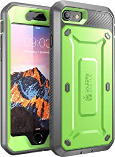 SupCase Unicorn Beetle Pro Series Case Designed for iPhone 7, iPhone 8, Full-body Rugged Holster Case with Built-in Screen Protector for Apple iPhone 7 2016 / iPhone 8 2017 (Green)