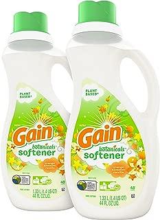 Gain Botanicals Liquid Fabric Softener, Orange Blossom Vanilla, 2 Count