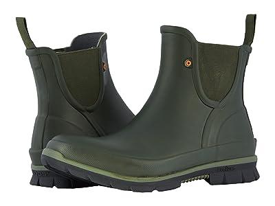 Bogs Amanda Slip-On Boot (Dark Green) Women