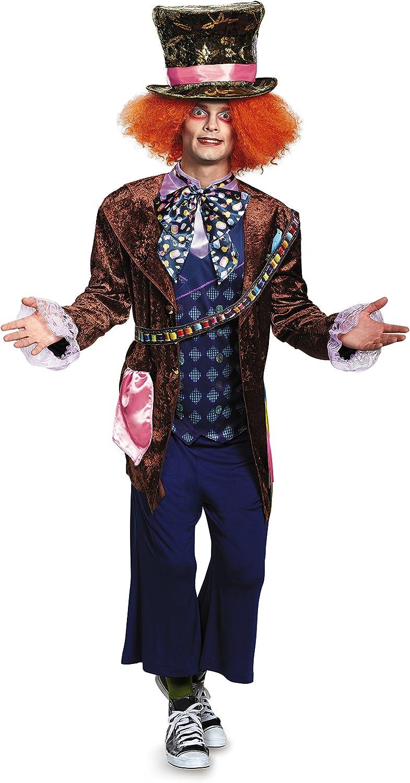 MAD Hatter Alice nel Paese delle Meraviglie Da Uomo Costume adulto Disney Libro Costume Outfit