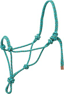 Turquoise//White Southwestern Equine Rope Halter /& Lead Rope Mountain Rope Diamond Braided for Comfort