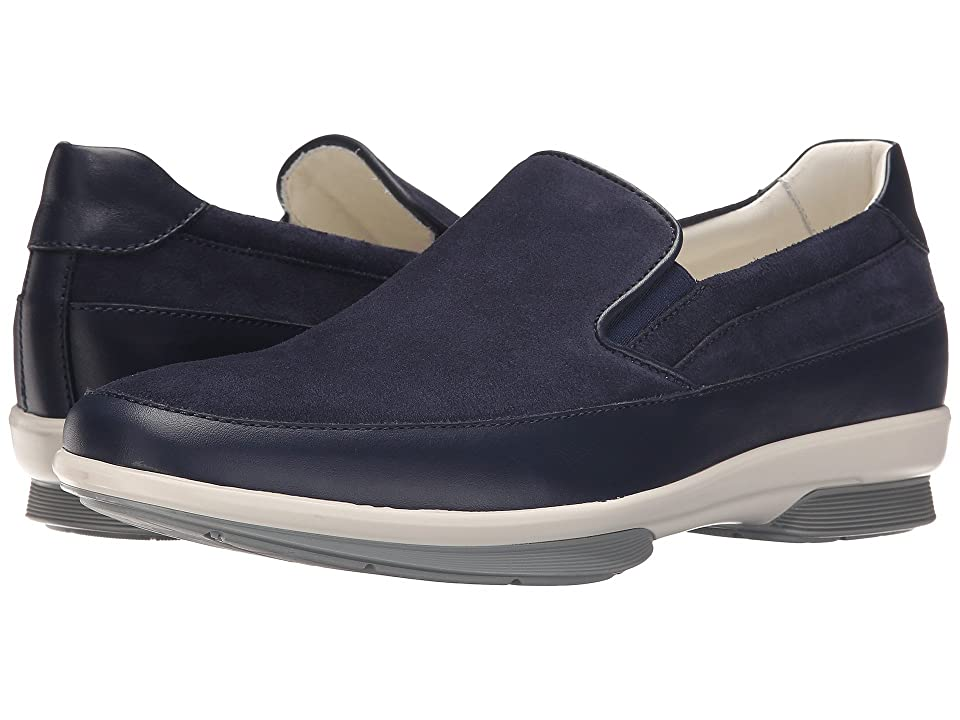 Aquatalia Wilson (Navy Suede/Contrast Bottom) Men