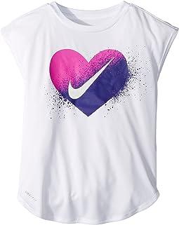 Nike Kids - Spray Heart Dri-FIT Modern Tee (Little Kids)