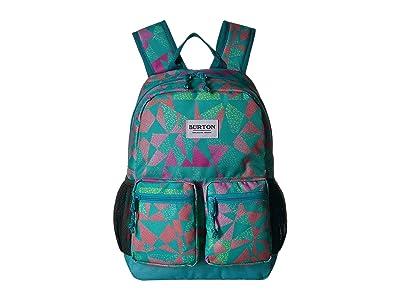Burton Kids Gromlet Pack (Little Kid/Big Kid) (Green/Blue Slate Morse Geo Print) Day Pack Bags
