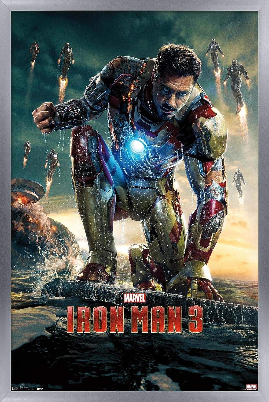 Iron Man 3 Movie Poster 24x36 Inch Wall Art Portrait Print