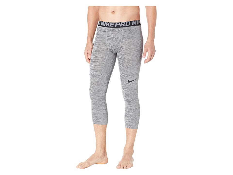 Nike 3/4 Heather Tights (Black/Cool Grey/Black) Men