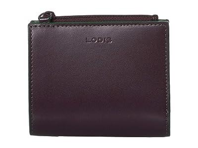 Lodis Accessories Audrey RFID Aldis Wallet (Deep Plum/Ivy) Wallet Handbags