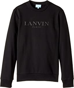 Lanvin Kids - Long Sleeve Logo Sweat Top (Big Kids)