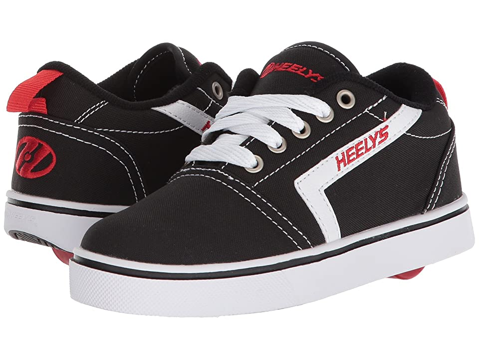 Heelys GR8 Pro (Little Kid/Big Kid/Adult) (Black/White/Red) Boys Shoes