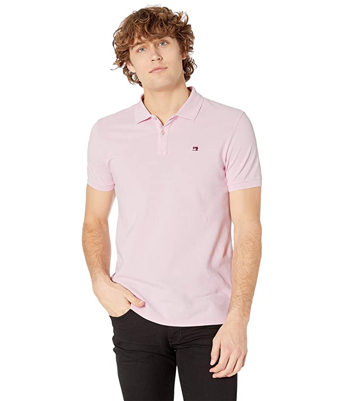 Scotch & Soda Classic Garment-Dyed Pique Polo (Faded Pink) Men