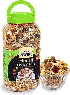 Swad Breakfast Cereal, Muesli Fruit & Nut With Oats, Almonds, Raisins, Honey, Fruits Jar, 670 gm
