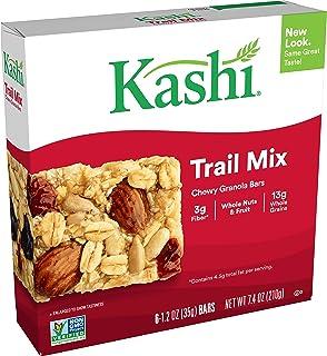 Kashi Chewy Trail Mix Granola Bars - Vegan, 7.4 Oz (Box of 6)