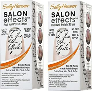 Sally Hansen Salon Effects Real Nail Polish Strips, Love Letter, 2 Pack