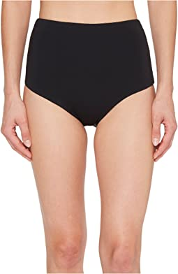 Laundry by Shelli Segal Italian Luxe Solid High-Waist Bikini Bottom