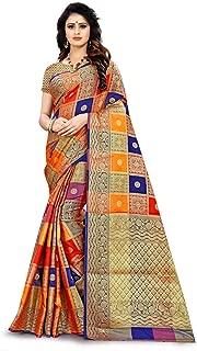 RIVANA Woven Banarasi Patola silk sarees for women (Color_Multi)