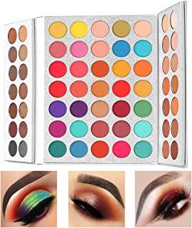Beauty Glazed Professional Makeup 63 Colours eyeShadow Palette Powder With Profession Makeup Brushes Set and Powder Blende...