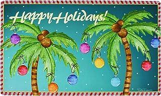 """Christmas Welcome Doormat Front Door Mat, Rubber Back Non Slip Door Mat Entrance Rug Shoe Scraper 17.2"""" x 28.75"""", Low-Prof..."""