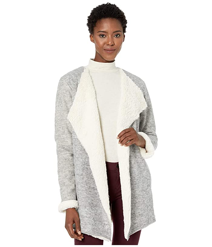 UGG  Abriana Shawl Cardigan (Grey Heather) Womens Clothing