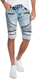 Moto Ripped and Repaired Denim Jeans Shorts