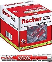 fischer 538242 universele pluggen DuoPower 10 x 80 LD, voor bevestigingen in beton, metselwerk en geperforeerde steen, 25 ...