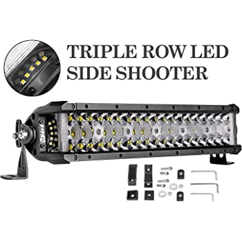 72 Watt 6072 Lumens Flood And Beam Patterns Waterproof LED Light Bar Rugged Ridge 15209.11 LED Light Bar 13.50 in