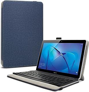 Infiland Teclado Funda Compatible for Huawei Mediapad T3 10, Ultra Fino Slim Case con Magnético Desmontable Teclado Bluetooth Inalámbrico para Huawei Mediapad T3 10 Tablet (Azul Oscuro)