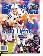 Feb 12 2007 Peyton Manning Colts Superbowl no label Sports Illustrated SI83-09