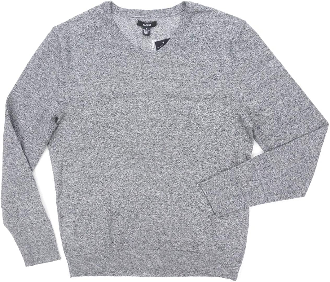 Alfani Mens V-Neck Long Sleeves Pullover Sweater B/W XL